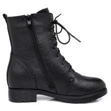 Square Med Heel Winter Boots