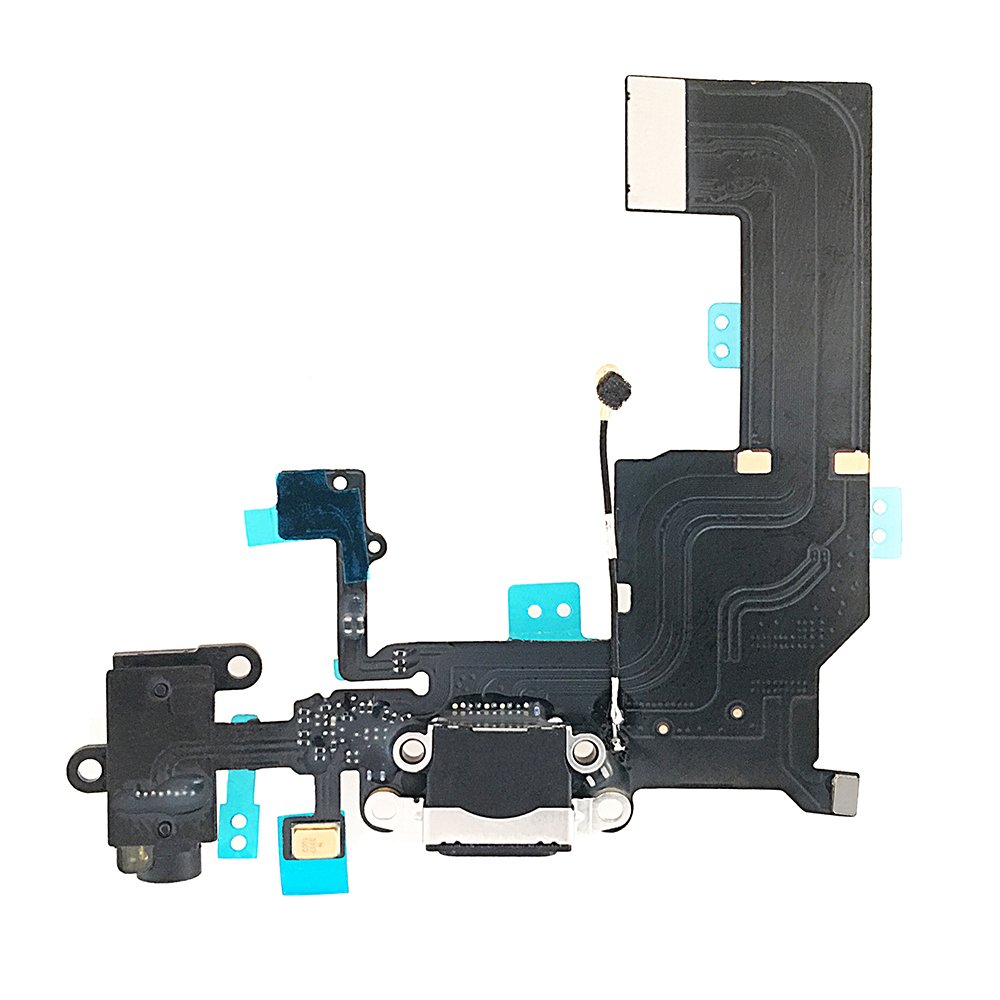 For <font><b>iphone</b></font> 5 5c <font><b>5s</b></font> Charging Port Dock <font><b>Connector</b></font> Flex Cable + Microphone + Headphone Jack Port Replacement Part image