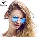 DRESSUUP 2016 Vintage Round UV400 Vintage Women Brand Designer Sunglasses Women Retro Sun Glasses Oculos De Sol Feminino Gafas