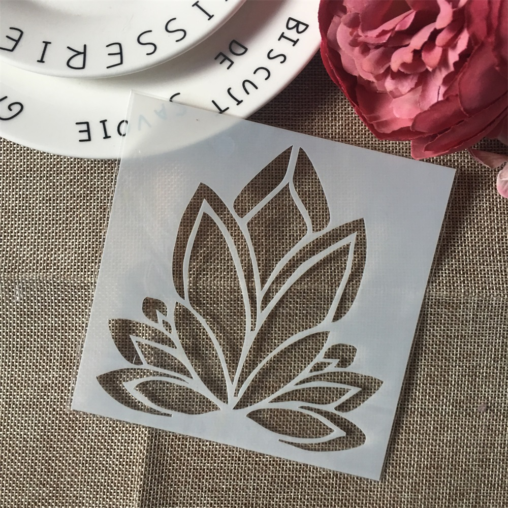 1Pcs 13cm Flower DIY Craft Layering Stencils Wall Painting Scrapbooking Stamping Embossing Album Paper Card Template F5506