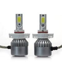 2pcs C6 7600lm Car Headlight H7 LED H4 H1 H3 H11 9005 9006 6000K White Auto