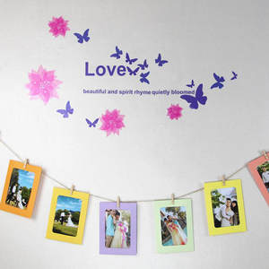 Liplasting 10pcs Photos Frames Wall Paper Photo Frame