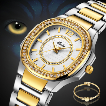Geneva Designer Ladies Luxury Brand Diamond Gold Patek Wrist Watch