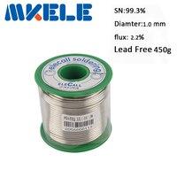 Lead Free Solder Wire Tin 1.0mm 450g 99.3SN Core Tin Lead Roll Flux Reel Lead Melt Core Soldering Tin Arame de solda