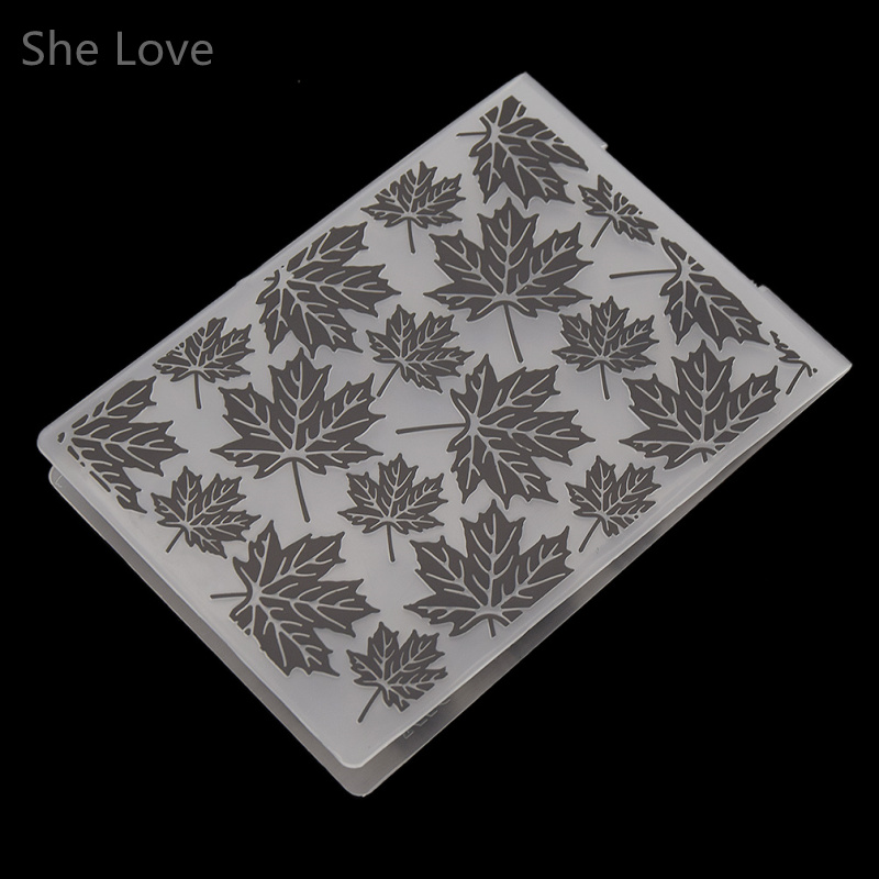 She Love Plastic Embossing Folder Maple Leaf DIY Scrapbooking Photo Album Card Paper Craft Decoration plastic embossing foldet flower diy scrapbooking photo album card paper craft decoration template