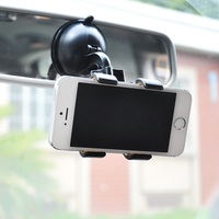 Double Clip 360 Rotating Flexible Car Mount Cell Phone Holder Stand Car Accessories for iPhone X 7 8 6s 6 Plus Samsung LG Nexus