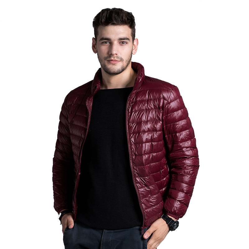 Winter Men Ultralight Jacket 2017 New Autumn White Duck   Down   Jacket Male Windproof Collar Warm Outwear   Coat   Parkas Outdoors