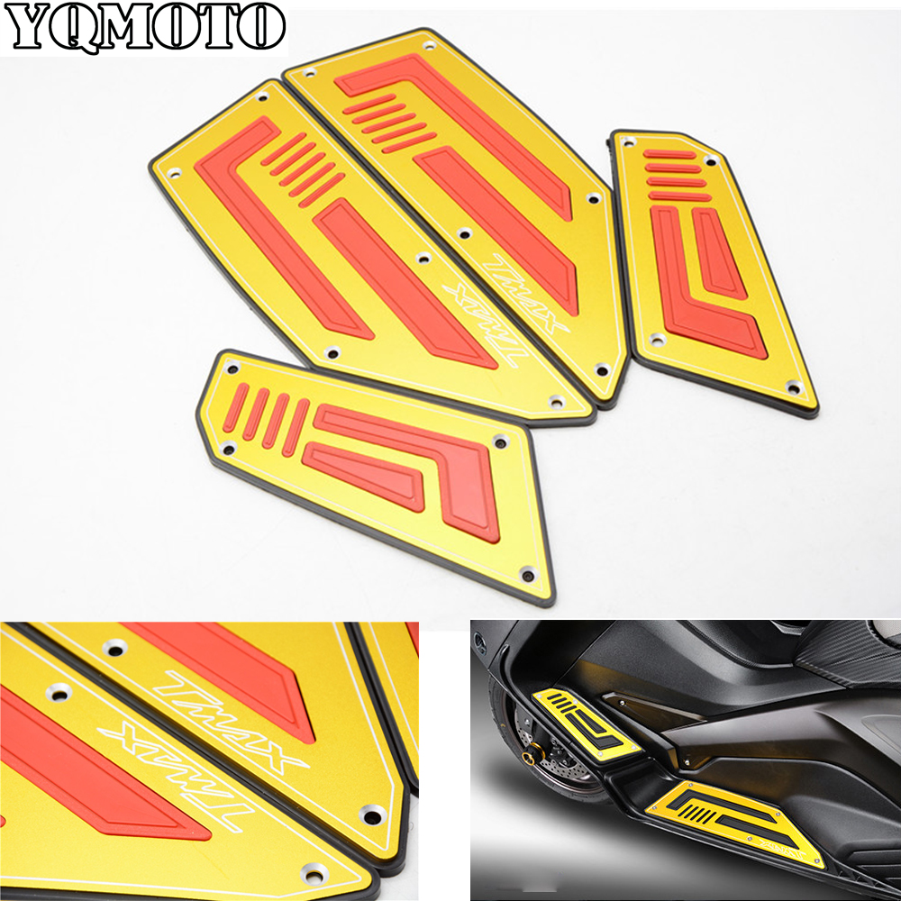 Motorcycle Footboard Steps Motorbike Foot For YAMAHA TMAX530 TMAX 530 T-MAX 530 2008-2014 Footrest Pegs Plate Pads