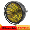 60W / 55W Motorcycle Front Headlight 6'' High Low Beam 12v H4 Halogen Headlamp for Suzuki GN125 Bandit Harley Bobber Chopper