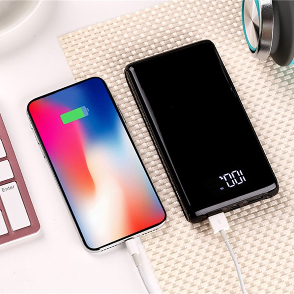 Free Welding 5V 2A LCD Screen Digital Display Power Bank Case Charger Module DIY Kits Powered By 6x 18650 Battery Powerbank Case