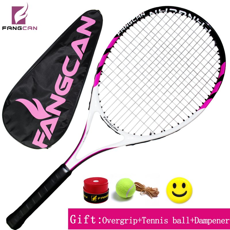 HOT! FANGCAN High Brand Tennis Racquet SUPER A6 Carbon Aluminum Composite Tennis Racket With String and Full Cover powerti 4g rough bigtennis racket string 1 25mm 200m reel polyester racquet string round power flexibility tennis string