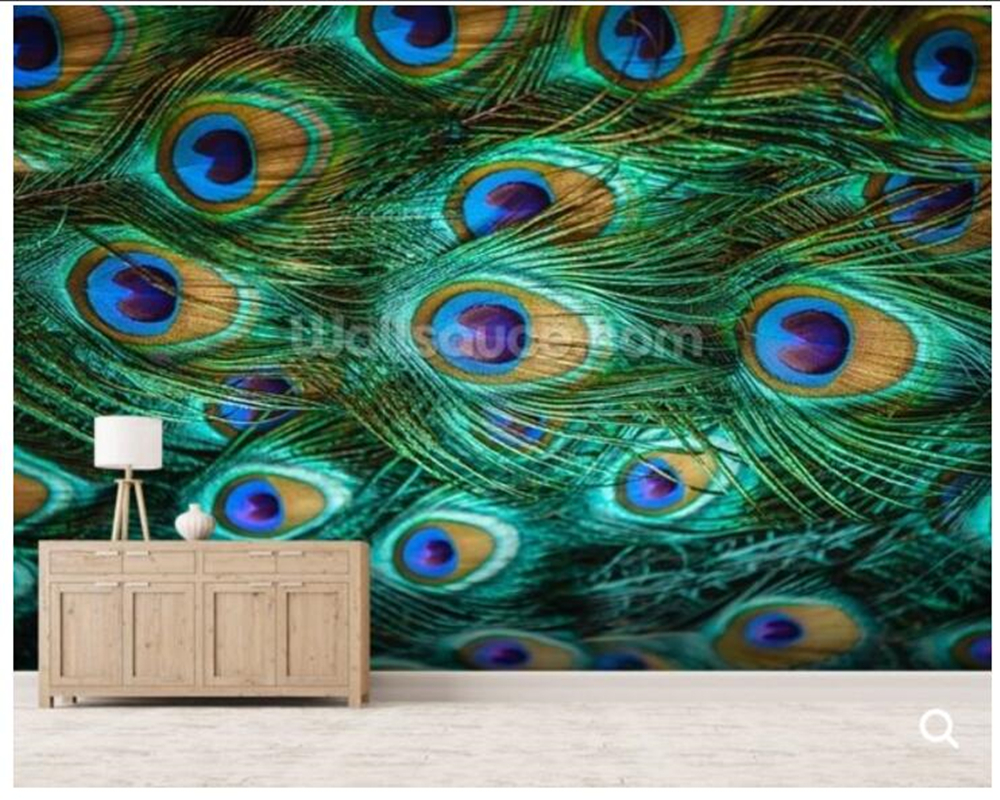 Custom peacock wallpaper,Colorful peacock feathers fresco for living room bedroom sofa background wall decorated Wallpaper custom continental ceiling murals living room bedroom embossed 3d wallpaper 3d stereoscopic 3d wallpaper peacock feathers zenith
