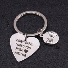 Keychain Engraved Drive Safe I Need You Here With Me Gift For Lovers' Family Pinky Promise Key Tag Key Ring Holder(China)