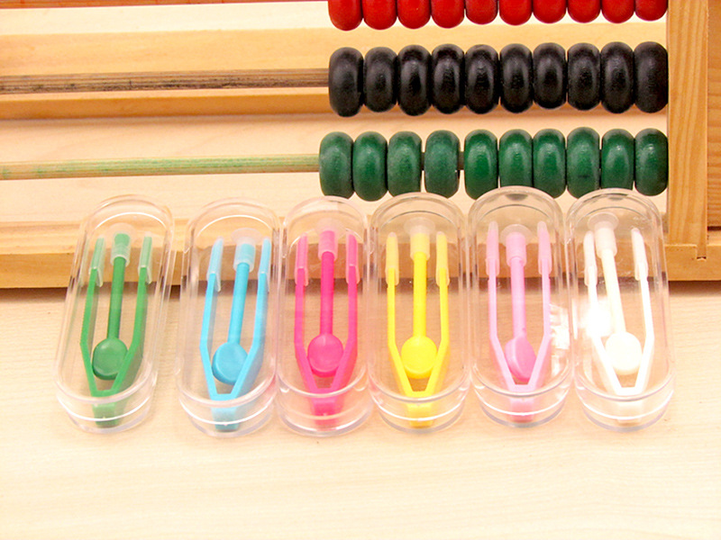 20pcs New High quality practical lenses tweezers clip Thickened glasses set Wearing Sticks contact lens case Accessories tools