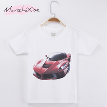 2019 Children T-shirt Racing Luxury Noble Car 3D Design Top Cotton Short Girl and Boy T Shirts Kids Clothes Baby Child Shirt Tee dmc t shirt video game fan collection ink art design print casual t shirt brand design pop women men top yellow cotton tee