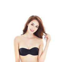 Women Sexy Self Adhesive Strapless Bra Bandage Stick Gel Silicone Push Up Invisible Seamless Backless Bra