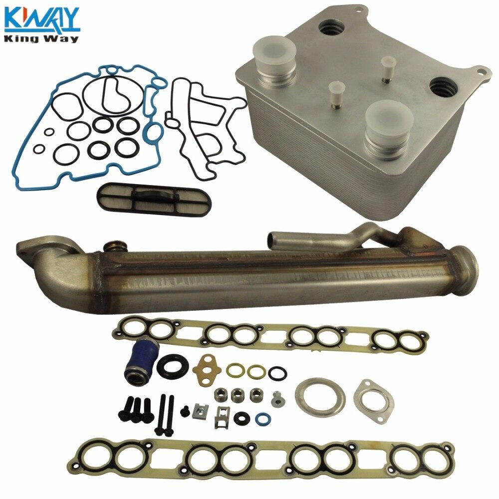 free shipping king way upgraded oil cooler kit egr cooler kit for