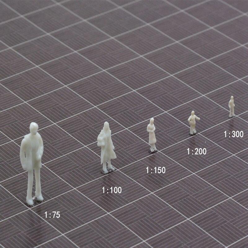 1/75/100/150/200/300 Em Miniatura do Modelo Escala Pessoas Brancas Caráter Postura Para Arquitetura estátua de Construção do trem Diorama