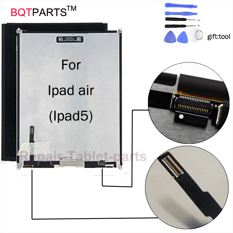 BQT For iPad 5 air Replacement LCD Screen display For iPad air ipad5 LCD display Free shipping Brand New With Tracking tool brand new lcd screen retina display replacement for ipad mini 3 3rd generation