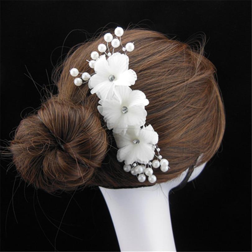 haimeikang unid flores de tela a mano perla peines del pelo de la boda de