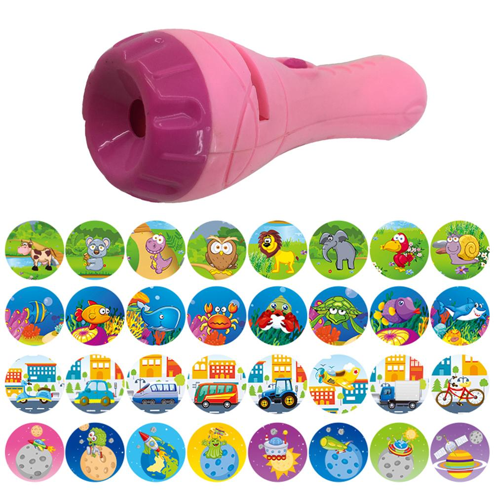 Projector Toy Flashlight Sleep Bedding Story Early Developing Toy Animal Slide For Infants Children Kids Early Education Toy
