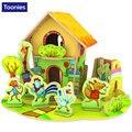 2017 diy rompecabezas de montaje rompecabezas juguete del bebé kid regalo patrón bosque cabaña para niños brinquedo educativo aprendizaje temprano hous