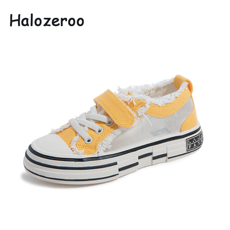 Autumn 2019 New Kids Mesh Casual Sneakers Children Sport Sneakers Baby Girls Brand Canvas Shoes Boys Black Sneakers Trainers