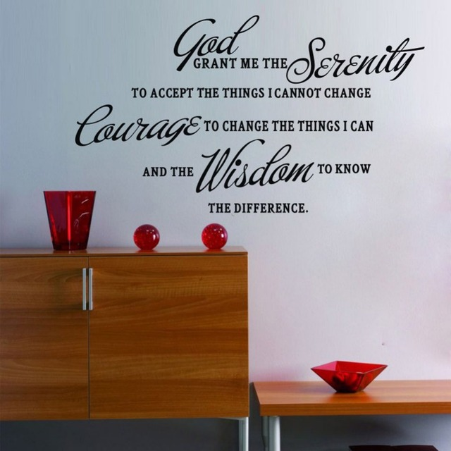 New Grant Me The Serenity Prayer Art Quote Vinyl Wall Stickers Decal Home Decor