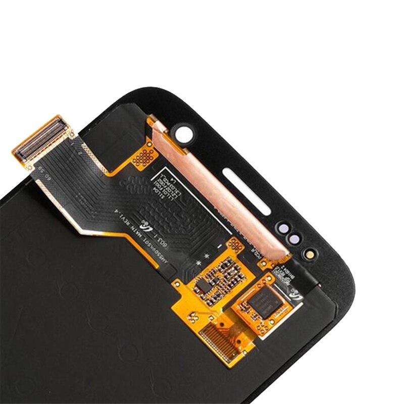 100% ORIGINAL 5.1 ''SUPER AMOLED LCD pour SAMSUNG Galaxy S7 LCD affichage G930 G930F écran tactile numériseur avec cadre - 4
