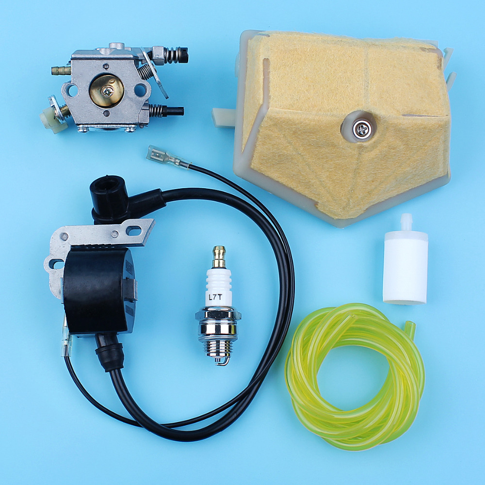 Tools : Carburetor Ignition Module Coil Air Fuel Filter Kit For Husqvarna 51 55 Rancher Chainsaw Walbro WT-170 503281504