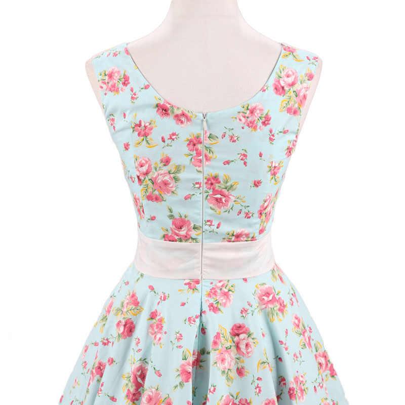 Jli May женские Хепберн винтажное платье мятного цвета с леопардовым принтом Вечеринка летнее платье в стиле «Питер Пэн», на пуговицах, без рукавов, в стиле 50-х