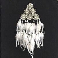 新しいファッションオリジナリティ大きなホットホワイトドリームキャッチャー風チャイムインドスタイルフェザーペン