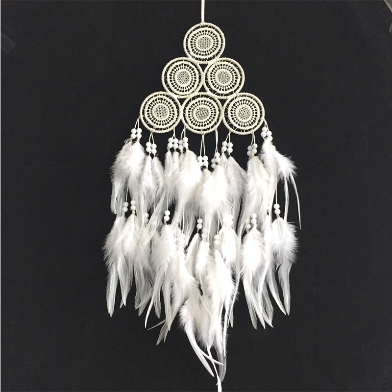 New fashion originality big Hot white Dreamcatcher Wind Chimes Indian Style Feather Pendant Dream Catcher Gift