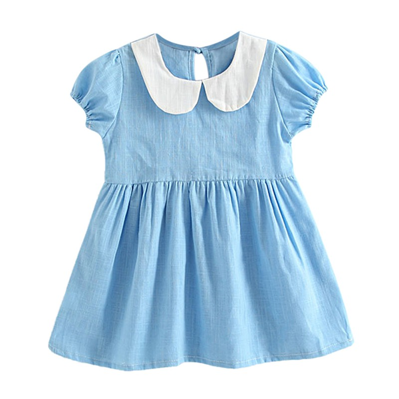 2018 Baby Girl Dress Summer Baby Cute Cotton Dress Infant Birthday Dress Baby Pretty Clothes 1-5 Years