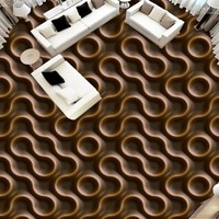 Free shipping custom moisture proof self adhesive Embossed abstract pattern 3D ground floor stickers wallpaper floor