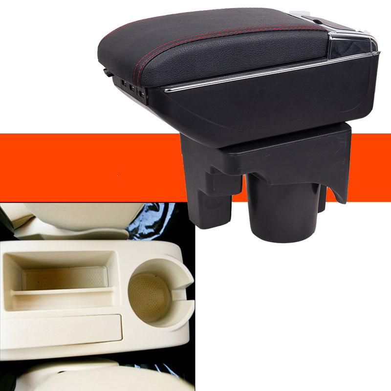 Car Armrest Central Store Content Storage Box with USB For volkswagen golf 6 sagitar Bora GLI Vento Golf Wagon a5 2005-2011 universal leather car armrest central store content storage box with cup holder center console armrests free shipping