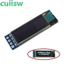 10 pces 0.91 polegada 128x32 i2c iic série branco azul oled módulo de exibição lcd 0.91