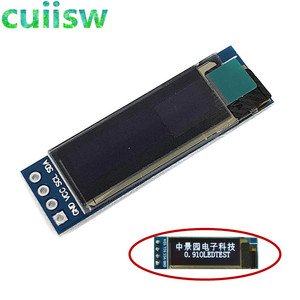 10pcs 0.91 inch 128x32 I2C IIC Serial White Blue OLED LCD Display Module 0.91