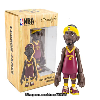 16cm NBA The Cleveland Cavaliers All-Star Basketballplayer Lebron James Action Figure Q Version Of Mode For Christmas Gift фигурка planet of the apes action figure classic gorilla soldier 2 pack 18 см