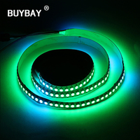 BUYBAY Led Strip Light 1M 144 LEDs SMD 5050 Strip Lights RGB Colorful Dimmable Flexible Flat