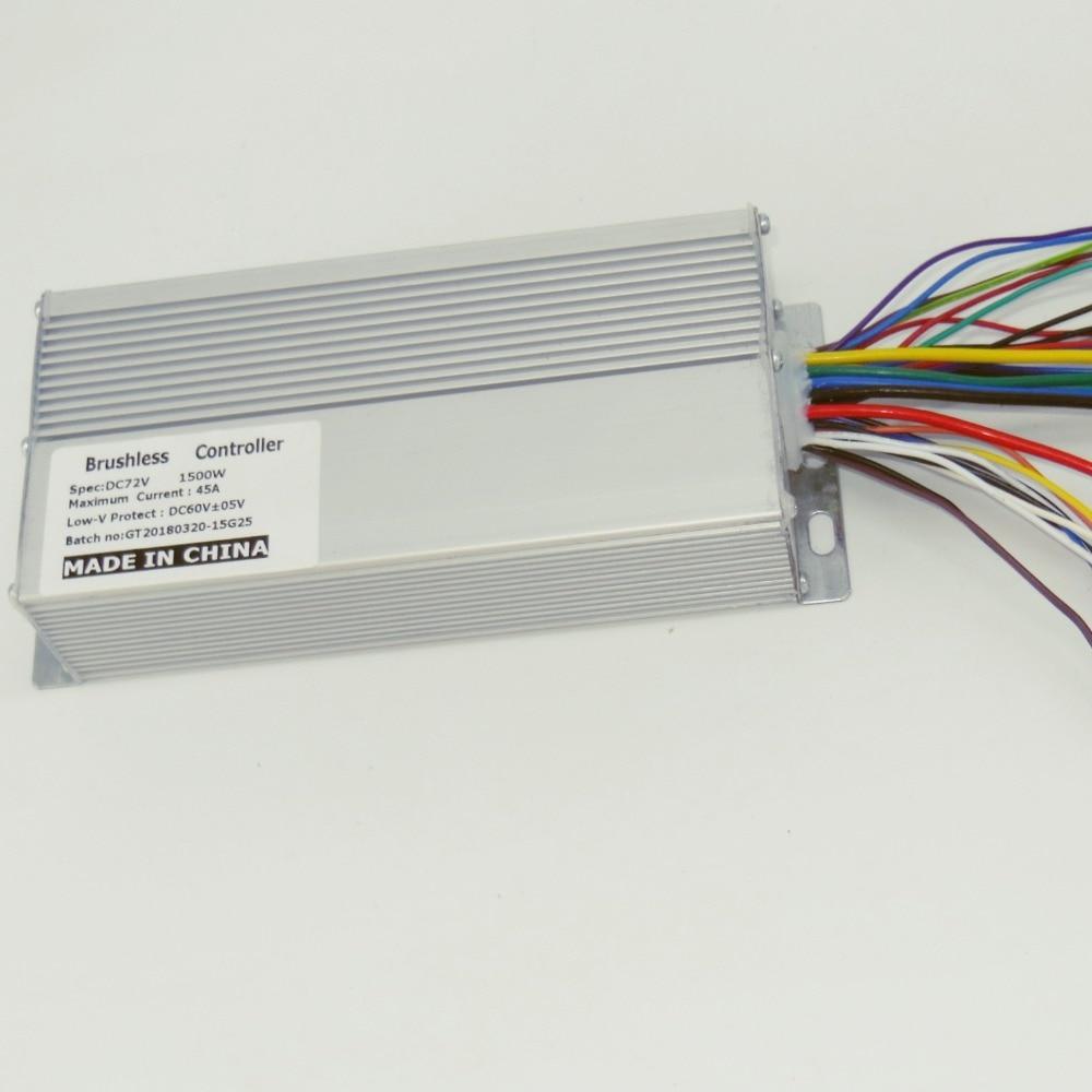 Ücretsiz Kargo 72 V 1500 W 45Amax BLDC Motor Hız Kontrol 15 MOSFET Elektrikli Bisiklet Çift Mod Kontrol