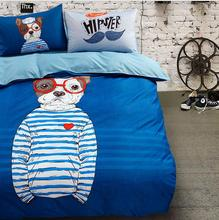 2018 New Cartoon Full Queen Size Cartoon Creative Bed Sheets 4pcs Bedding  Pillowcase Duvet Cover Sets
