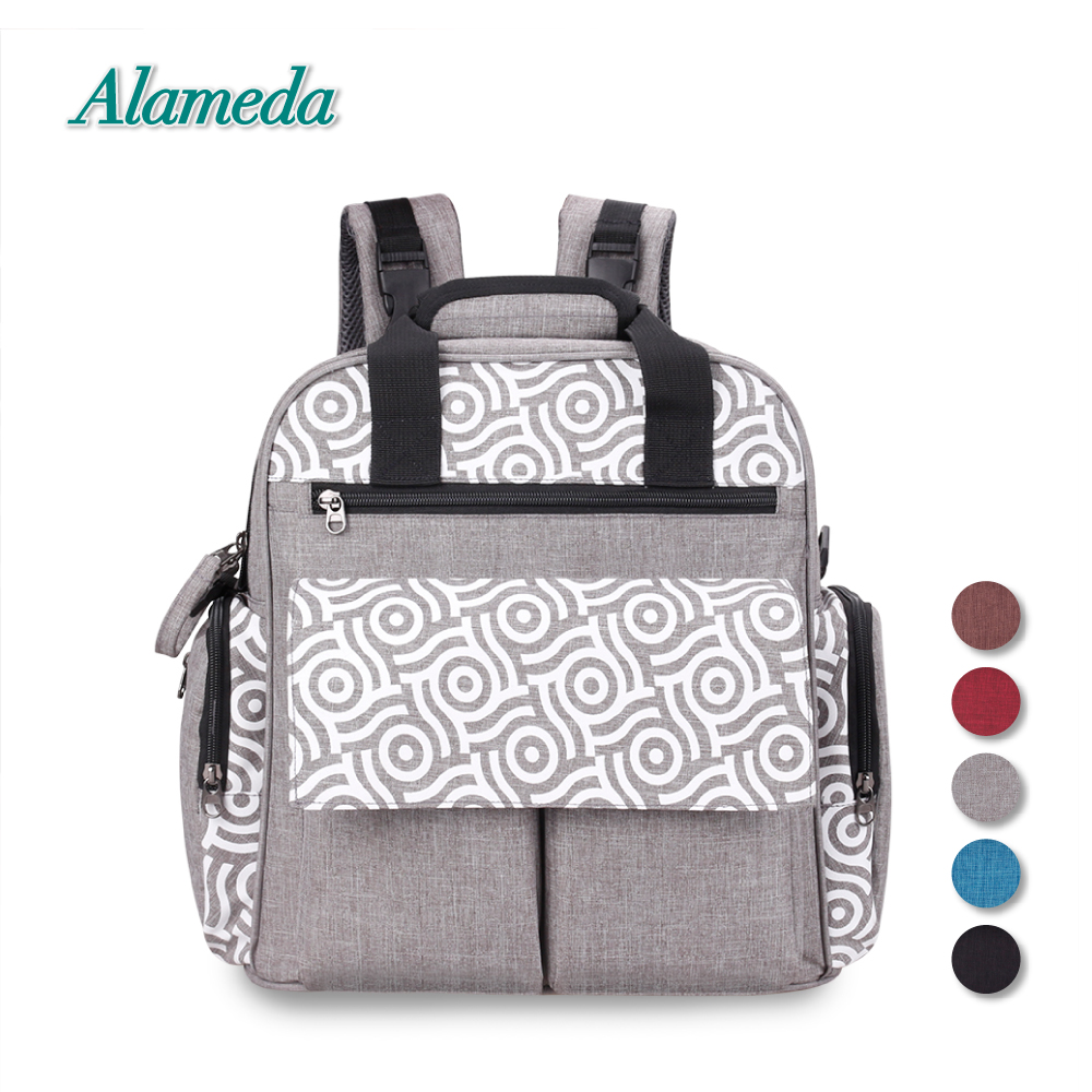 Alameda Convertible Diaper Bag Backpack Large Baby Bag Mummy Maternity Nappy Changing Bag with Stroller Strap