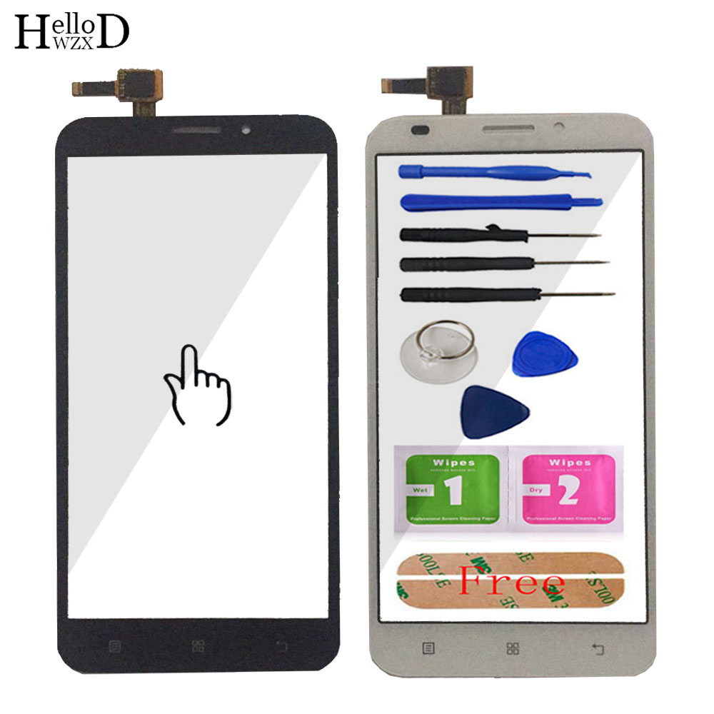 Mobile HighScreen Touch Glass For Lenovo A916 A 916 Touch Screen Digitizer Panel Front Outer Glass Lens Sensor + Adhesive