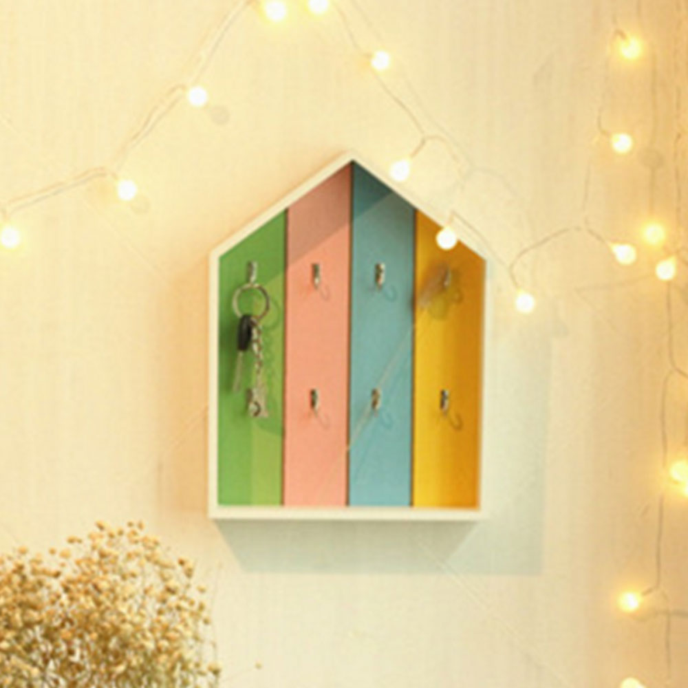 Home Decor Wooden Key Boxes Wall Hanging Decoration Wall Shelf ...