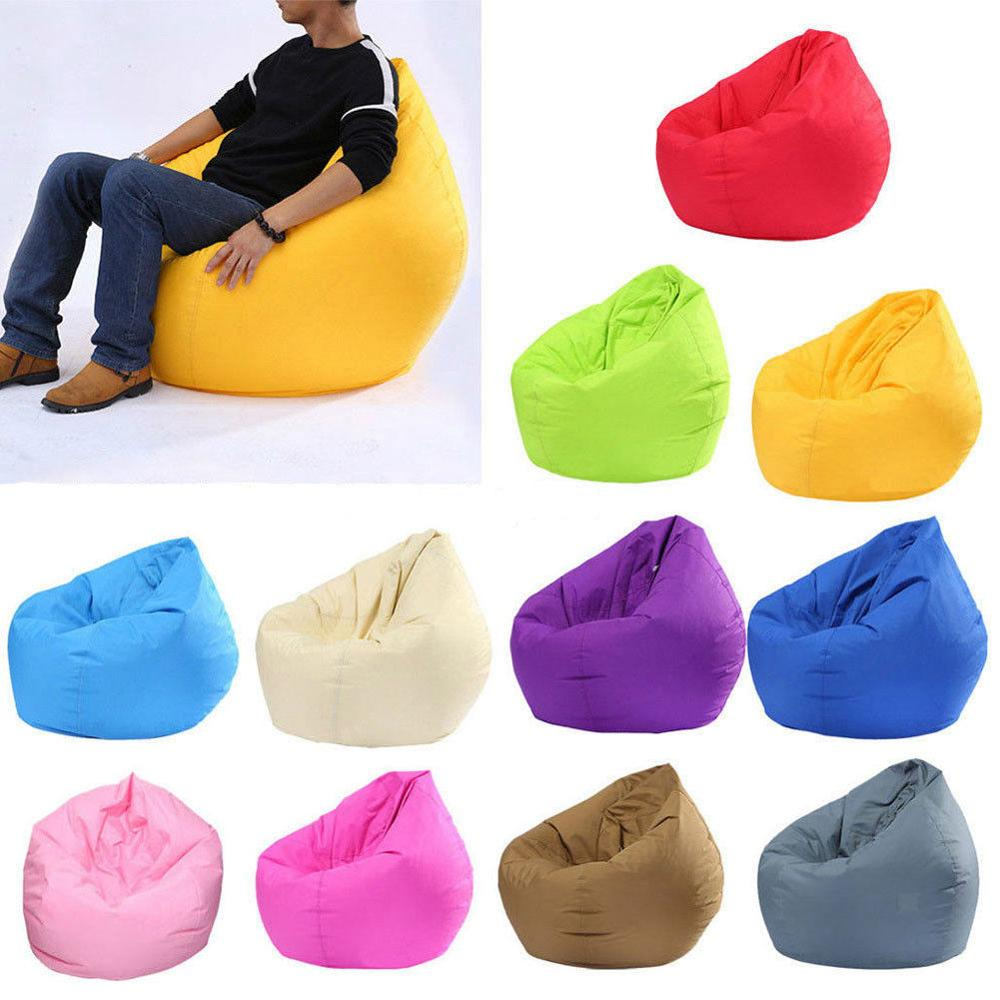 Chair Sofa Bean-Bag Ottoman-Seat Lounger Puff Couch Pouf Without-Filler Large Living-Room-Furniture