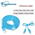 5x High Speed Cat6 Ethernet Flat Cable RJ45 Computer LAN Internet Network Cord 0.5m 2m 3m 5m 10m 15m 20m 25m 30m High Quality