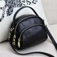 2018 Fashion NEW Genuine Leather Casual Women's shoulder Bag Solid Zipper Cow Leather Messenger Bag