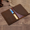Passport Cover Business Card Holder Leather Porte Carte Business Coin Purse Slim Small Men Id Credit Card Holder Travel Wallet