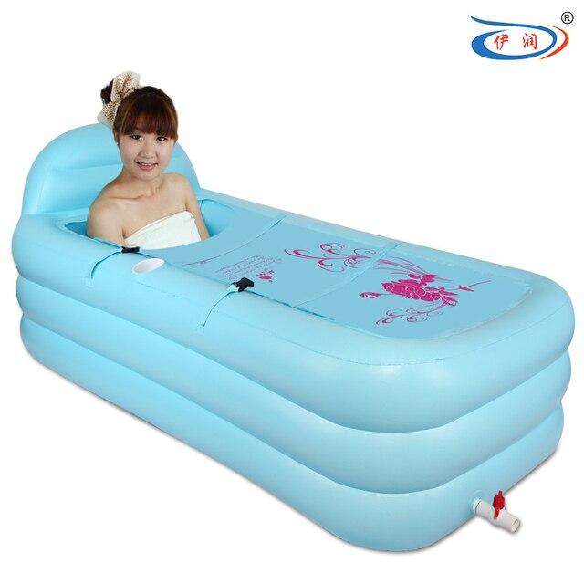 Thickening inflatable bathtub thermal folding bathtub tub adult ...